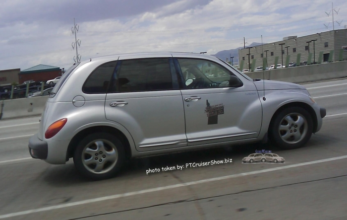 PT Cruiser showing the business Northern Title Co