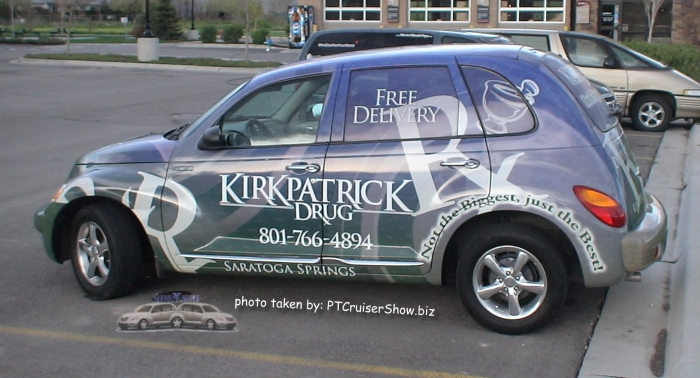 PT Cruiser showing the business Kirkpatrick Drugstore